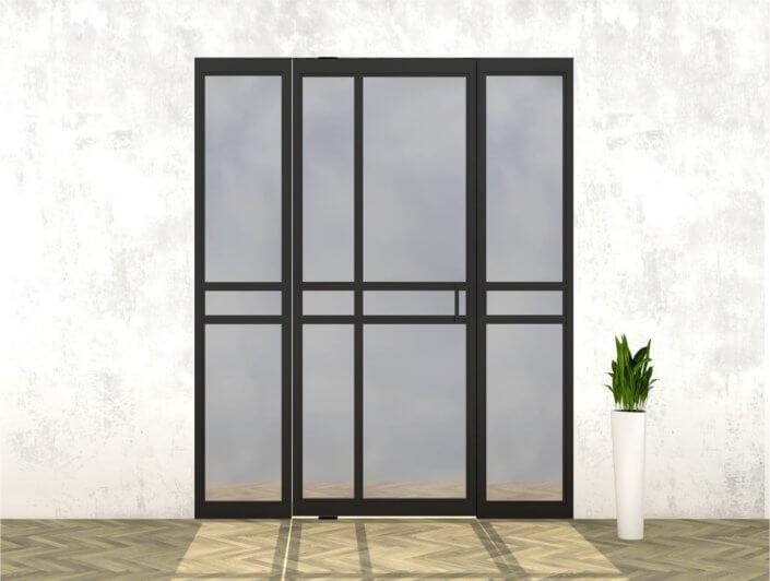 Stalen deur met zijlichten